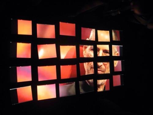 Steve Jobs video wall