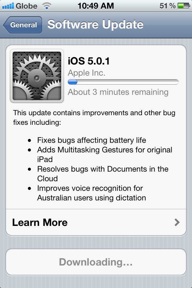 iphone 5 software update how to update to ios 5 0 1 on your iphone and ipod 14594